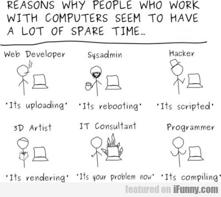 Reasons Why People Who Work With Computers...