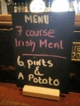 Menu: 7 Course Irish Meal...