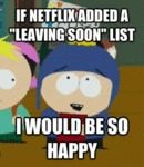 If Netflix Added A Leaving Soon List...