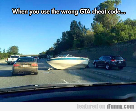 When You Use The Wrong Gta Code...