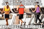 Most Of The Men And Women At The Gym...