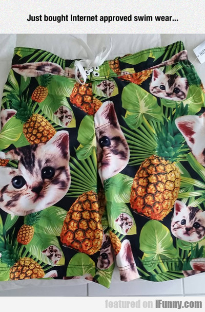 just bought internet approved swim wear...