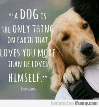 a dog is the only thing on earth