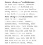 Womens Shampoos Condotioners