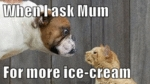 When I Ask Mum For More Ice Cream