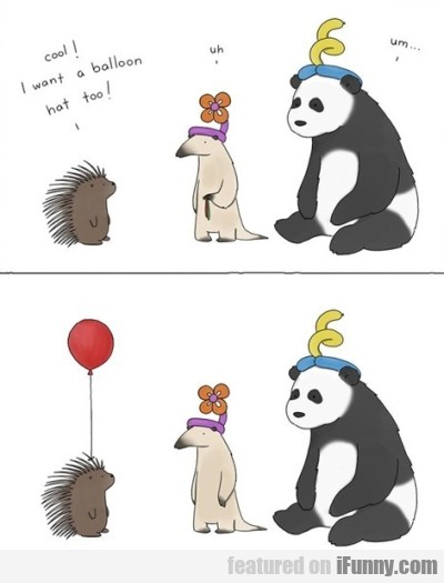 cool i want a balloon hat too