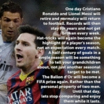 One Day Christiano Ronaldo And Lionel Messi