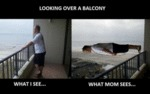 Looking Over A Balcony...