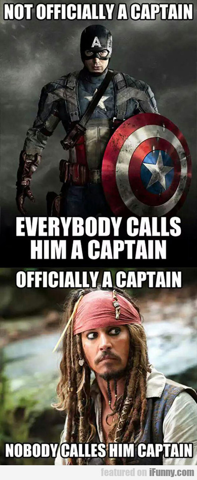 Not Officially A Captain...
