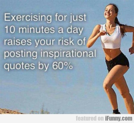 Exercising For Just 10 Minutes
