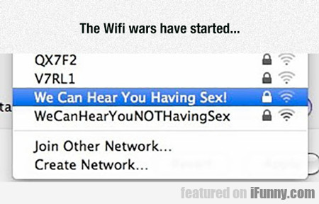 The Wifi Wars Have Started...