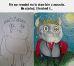 My Son Wanted Me To Draw Him A Monster...
