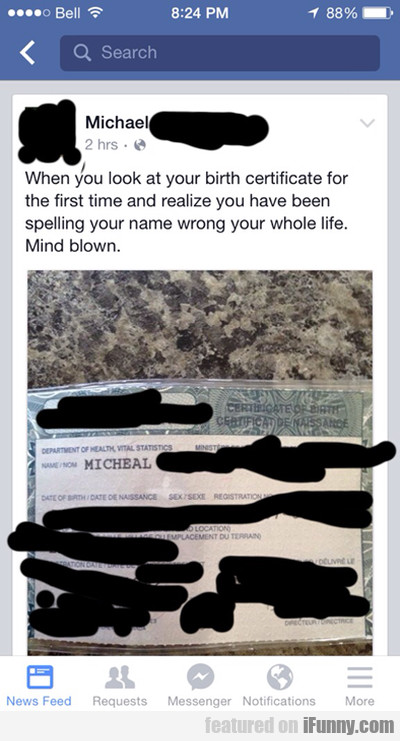 When You Look At Your Birth Certificate