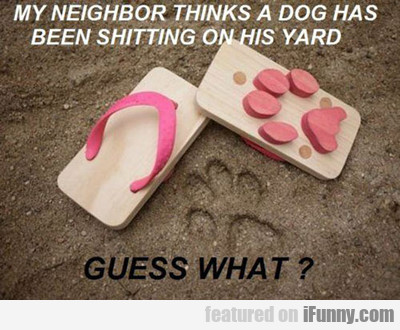 My Neighbor Thinks A Dog...