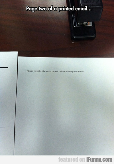 Page Two Of A Printed Email...