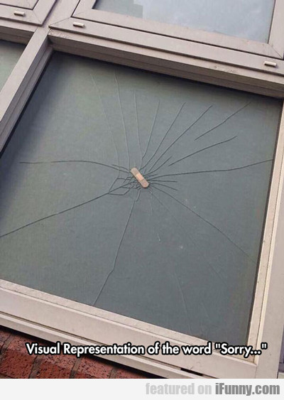 Visual Representation Of The Word Sorry...