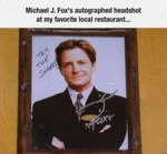 Michael J. Fox's Autographed Headshot...