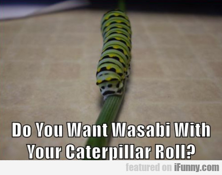 Do You Want Wasabi With Your Caterpillar