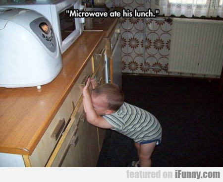 Microwave ate his lunch...