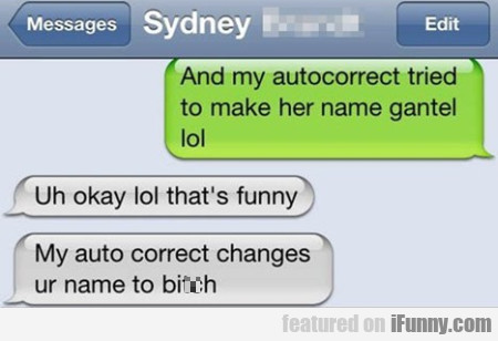 And my autocorrect tried to make her name gantel..