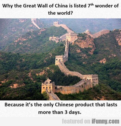 Why The Great Wall Of China...
