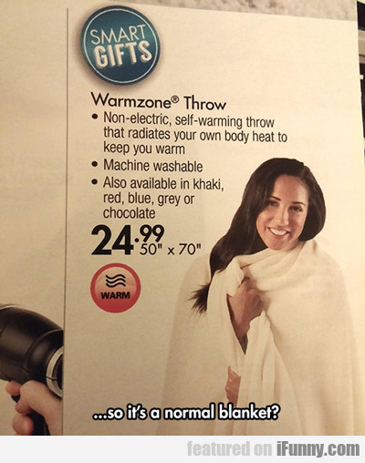 So It's A Normal Blanket?