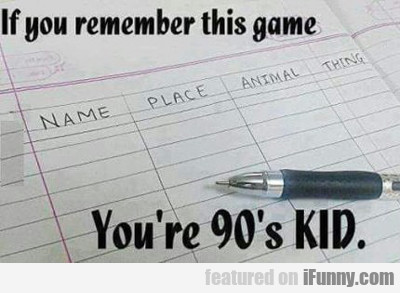 If Remember This Game...