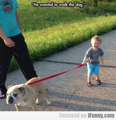 He Wanted To Walk The Dog