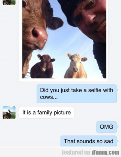Did you just take a selfie with cows...