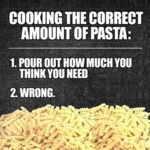 Cooking The Correct Amount...
