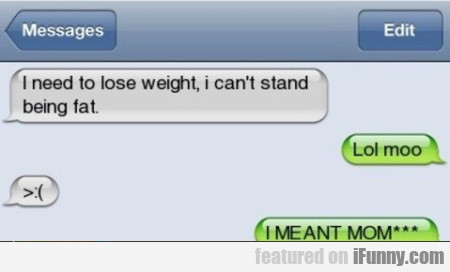 I Need To Lose Weight, I Can't Stand...