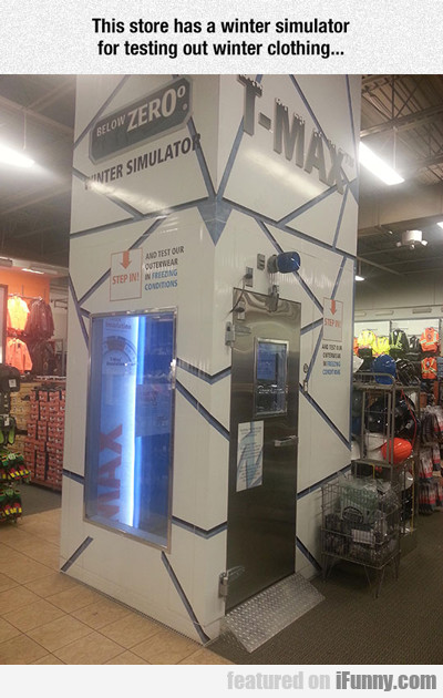 This Store Has A Winter Simulator...