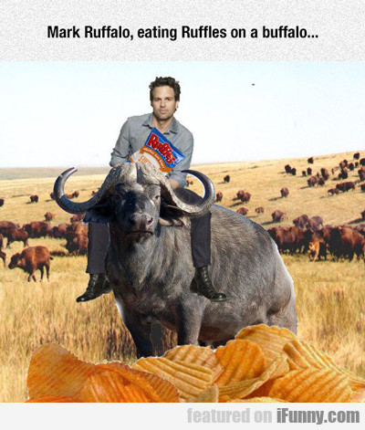 Mark Ruffalo Eating Ruffles On A Buffalo...