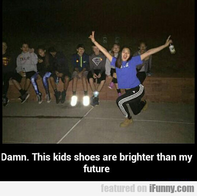 Damn. This Kid's Shoes....
