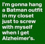 I'm Going To Hang A Batman Outfit...