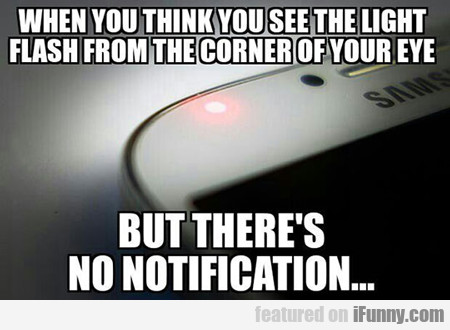 when you think you see the light...