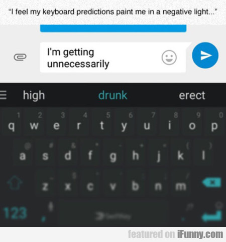 I Feel My Keyboard Predictions