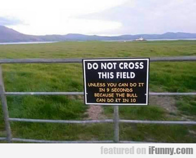 Do Not Cross This Field...