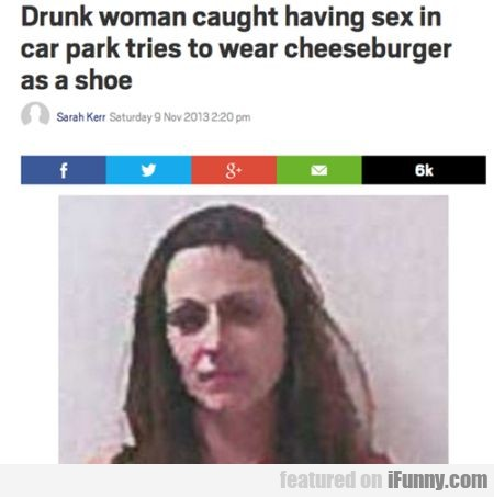Drunk Woman Caught Having Sex