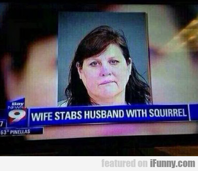 Wife Stabs Husband...