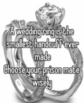 A Wedding Ring Is The Smallest...
