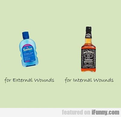 For External Wounds...