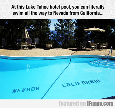 At This Lake Tahoe Hotel Pool...
