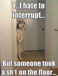 I I Hate To Interrupt.