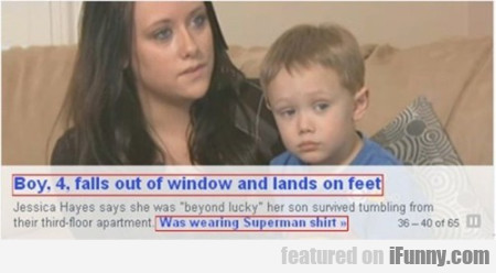 Boy 4 Falls Out Of Window.