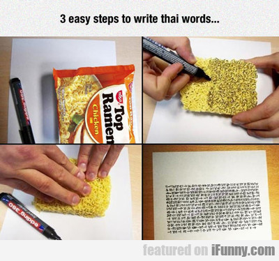 3 Easy Steps To Write Thai Words...