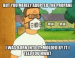 But You Merely Adopted The Propane...