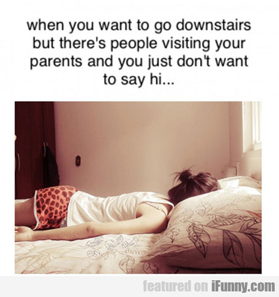 When You Want To Go Downstairs...