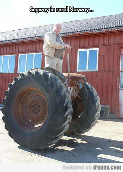 segway in rural norway...