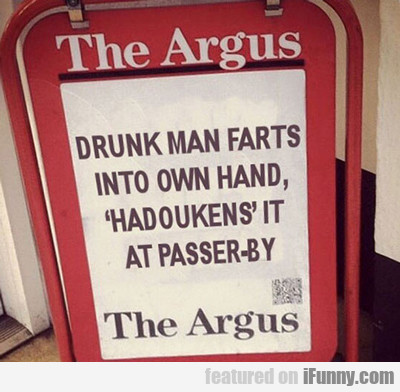 Drunk Man Farts Into Own Hand...